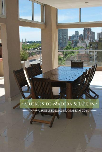 Sillas plegables de madera para terraza mesas mesa for Mesas plegables para terraza