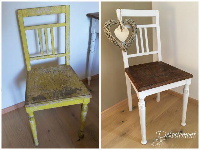 von alt zu neu stuhl streichen und er sieht aus wie neu. Black Bedroom Furniture Sets. Home Design Ideas