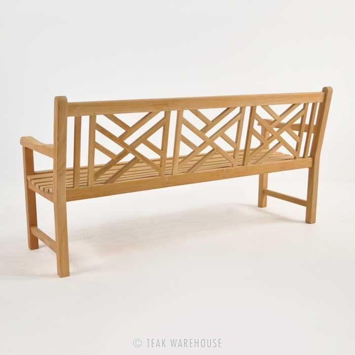 teak warehouse elizabeth teak garden bench 3 seat front patio rh pinterest com