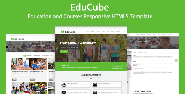 educube education and courses responsive html5 template
