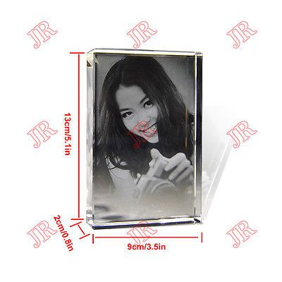 Personalized Custom Photo Frame Laser Etched Crystal Glass Birthday ...