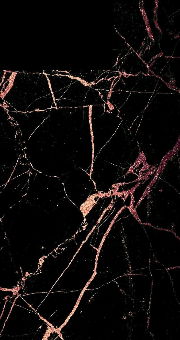 Black And Rose Gold Marble Android Wallpaper Black Rose Gold