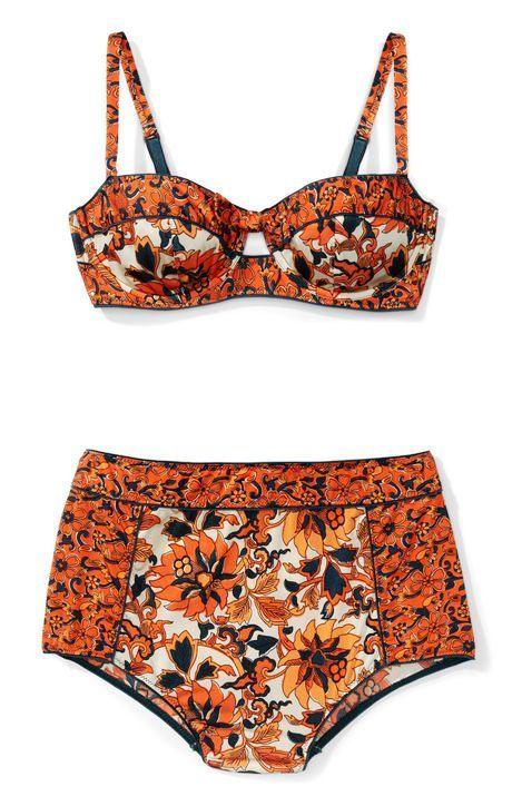 Printed orange bikini