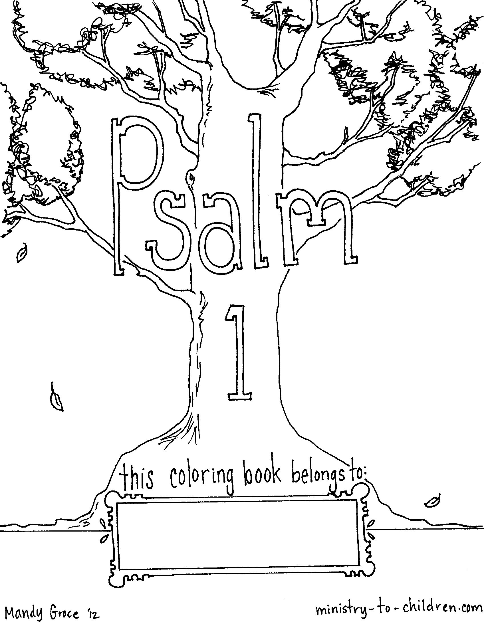 Coloring pages psalm 33 - Psalm 1 Coloring Page
