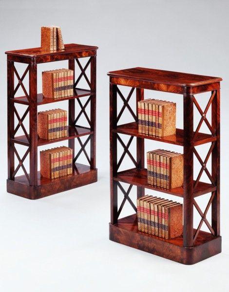 pair empire mahogany bookcases ca1810 france 34 h x 22 w x 10 d rh pinterest com