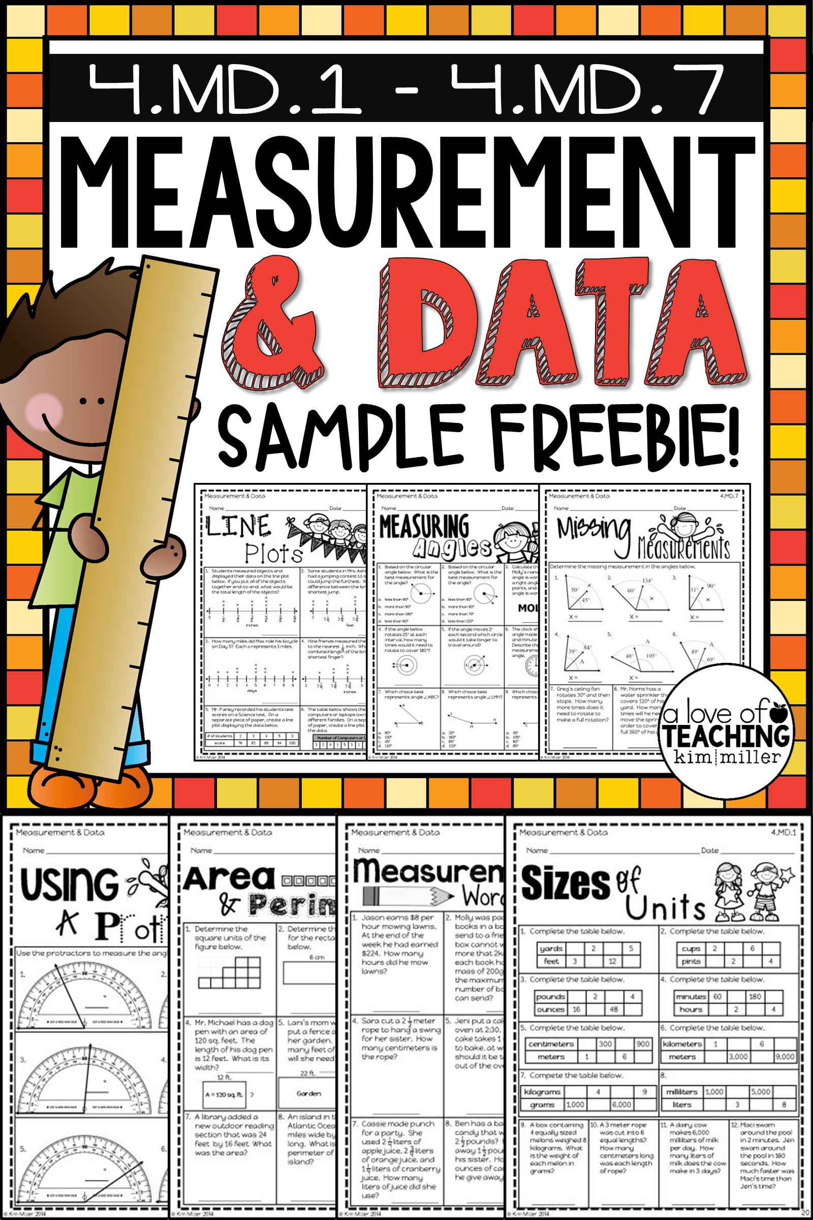 Math Test Prep Review Measurement Angles Line Plots