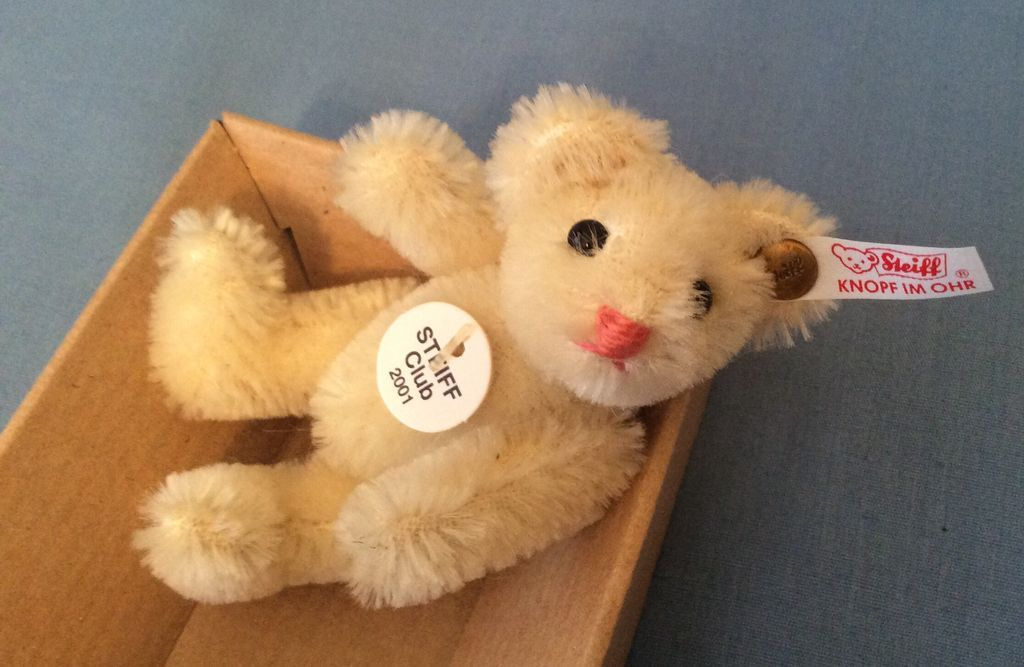 Steiff Miniature Bear Doll Size Fully Jointed in Box