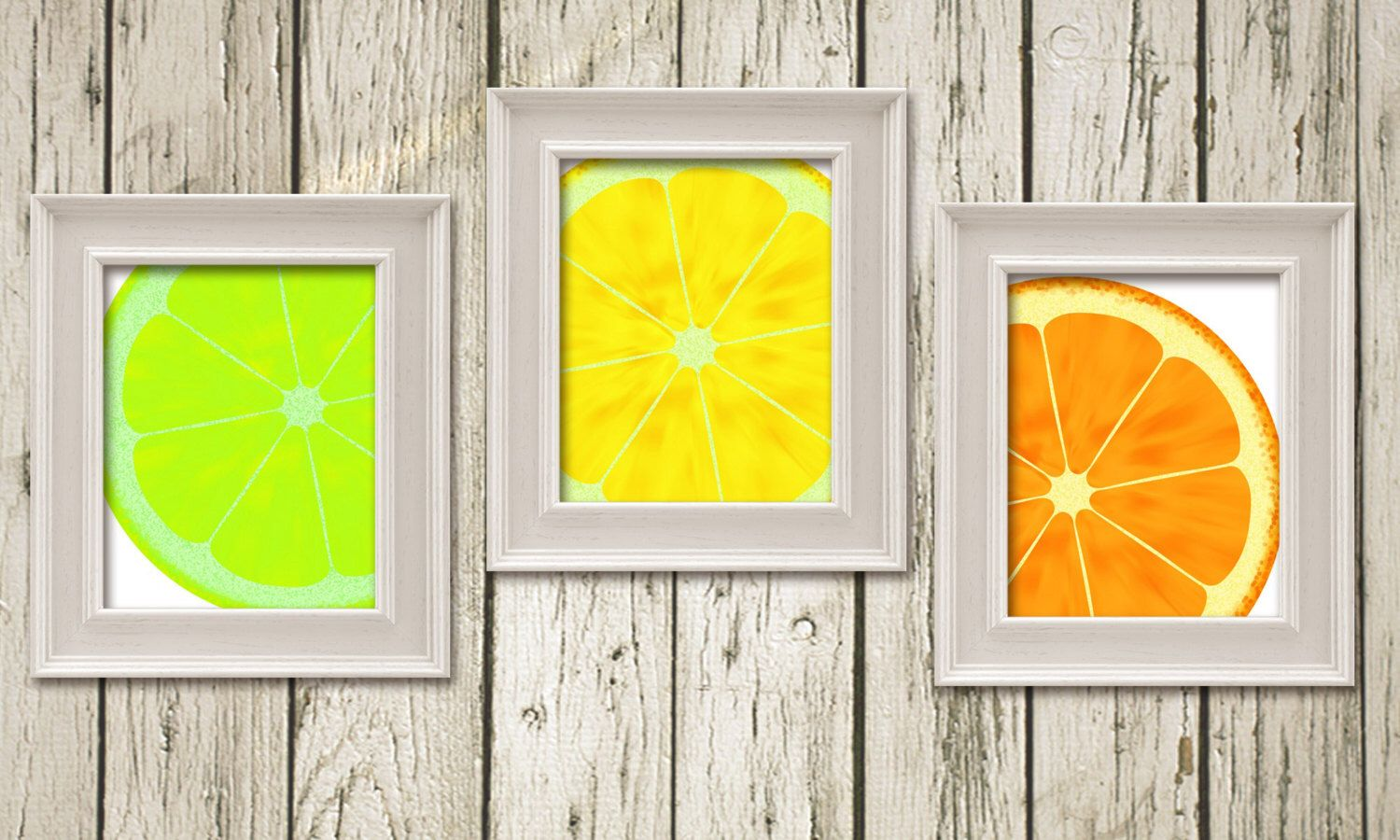 Lime Lemon Orange Citrus Kitchen Art Set of 3 Printable Instant ...