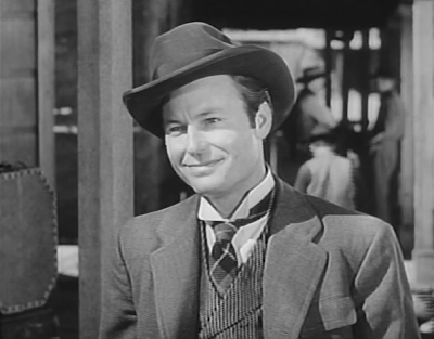 "DeForest Kelley in The Lone Ranger episode, ""The Legion of Old Timers"" (1949)"