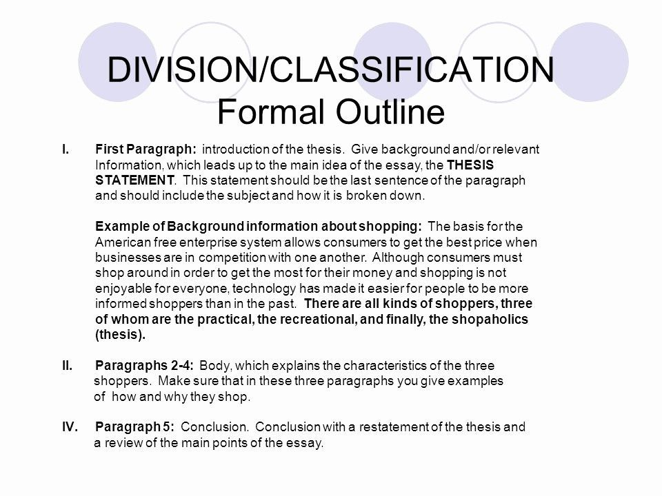 Classification Division Essay Example New Division