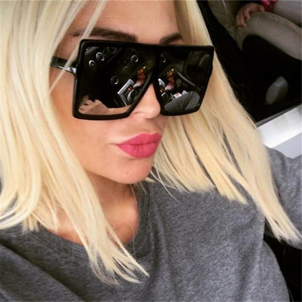 "BIG OVERSIZED /""Jackie/"" BUTTERFLY Women Sunglasses Aviator Flat Top Square Shadz"