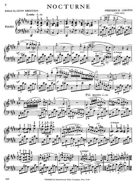 Nocturne In A Minor Look Inside Nocturne In C Sharp Minor Opus