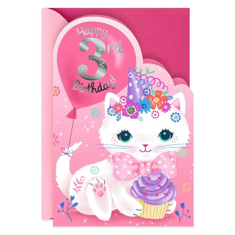 Cuteness And Smile 3rd Birthday Card