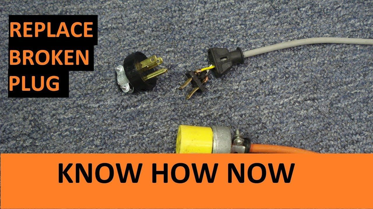 Replace Plug On An Extension Cord Or An Appliance Youtube Extension Cord Plugs Cord