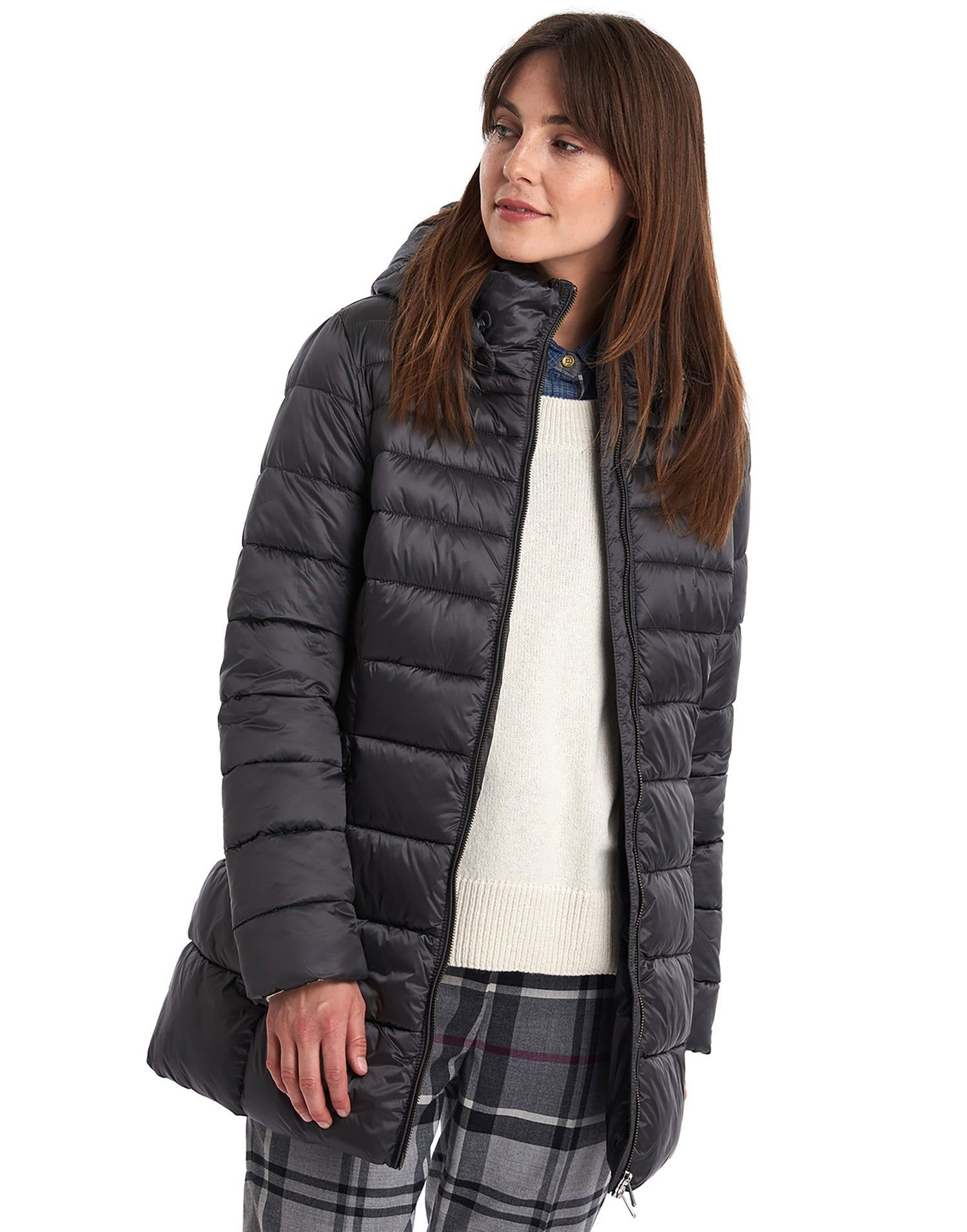 Barbour blair quilt womens jacket ash grey country