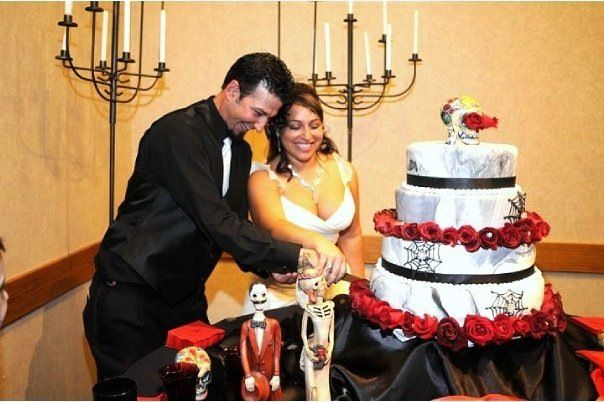 My Halloween wedding cake