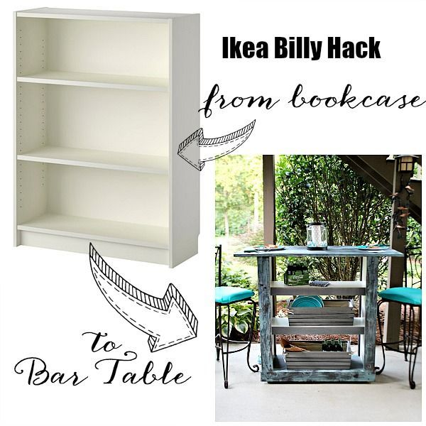 ikea hack from bookcase to bar table diy projects ikea billy rh pinterest co uk