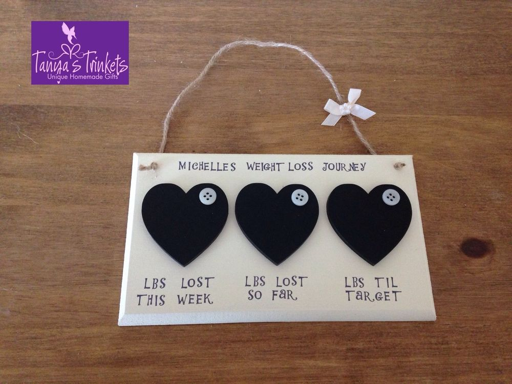 Personalised Diet Weight Loss Chalkboard Plaque Countdown Slimming World In Home Furniture Diy Home Decor Plaques Signs