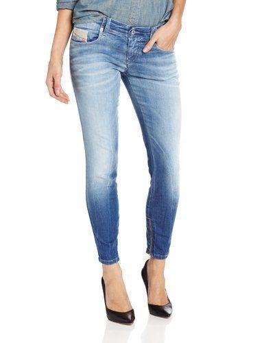 982d2658 Womens Diesel Jeans Grupee - Zip 0602C Super Slim Skinny Low Waist 27