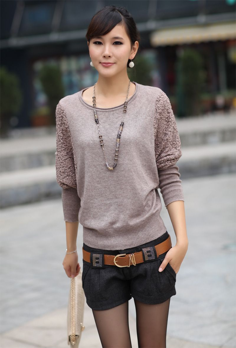 Lace Sweater Women Pullovers Knitted Ladies Christmas Sweaters Solid Sweter Ropa Mujer Long Sleeve Sueter Korean Style Women - http://www.freshinstyle.com/products/lace-sweater-women-pullovers-knitted-ladies-christmas-sweaters-solid-sweter-ropa-mujer-long-sleeve-sueter-korean-style-women/
