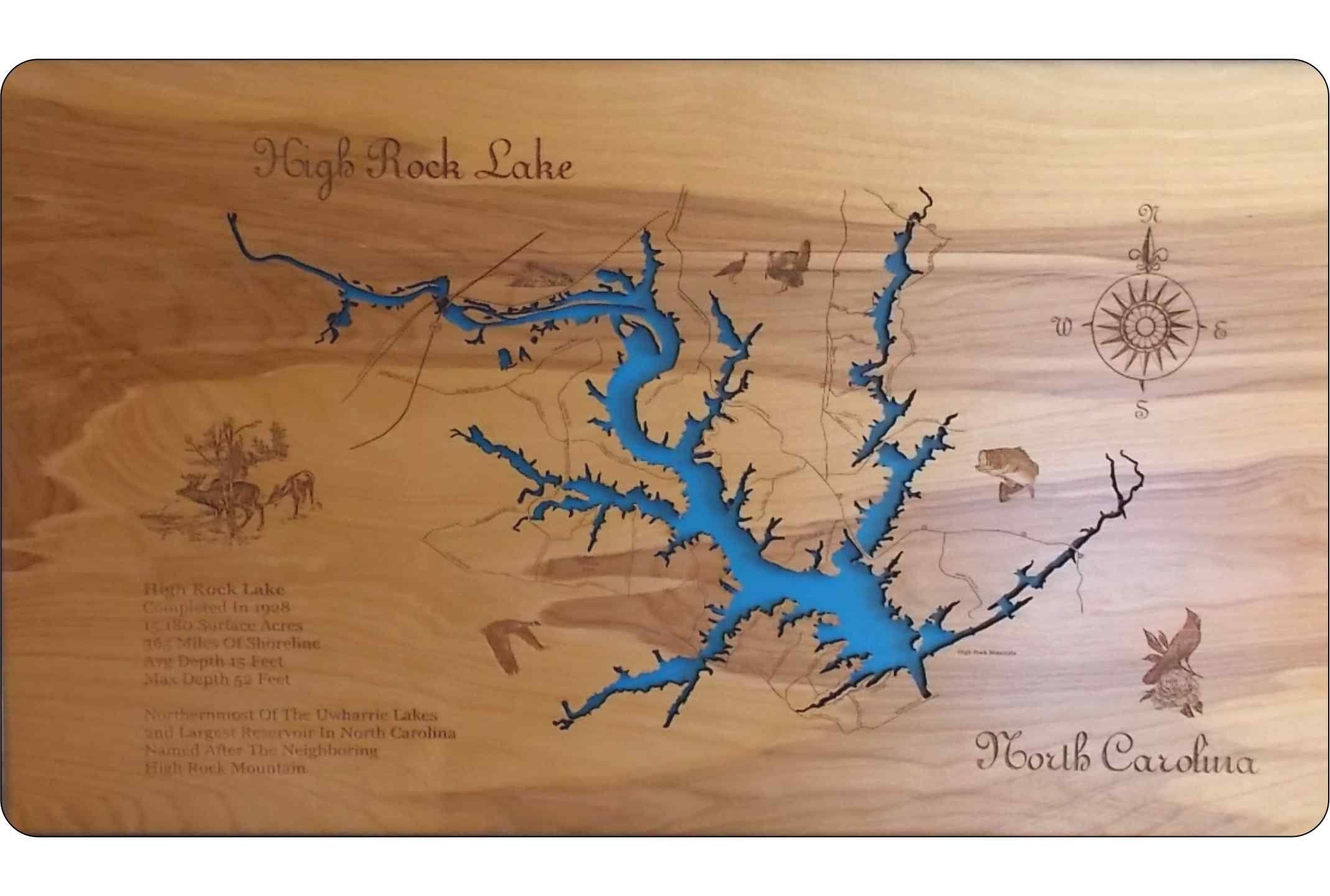 Usa Map North Carolina%0A High Rock Lake North Carolina  Standout Wood Map Wall Hanging  Awesome  products selected
