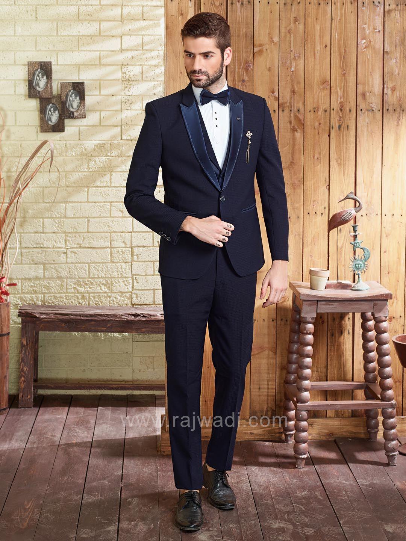 Stylish emboss fabric suit for party rajwadi menswear