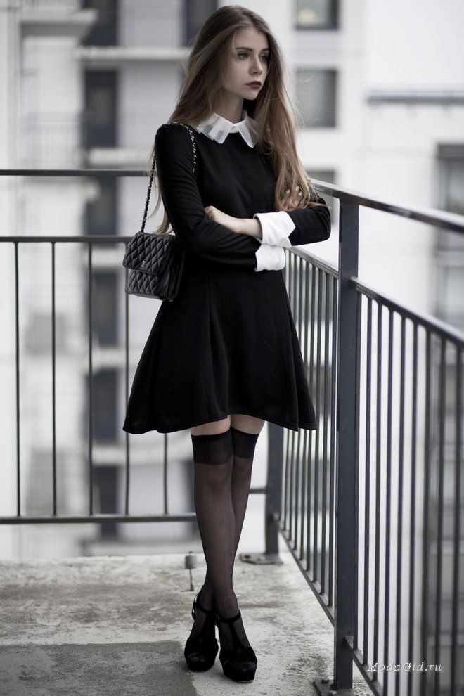 Black dress and tights 30