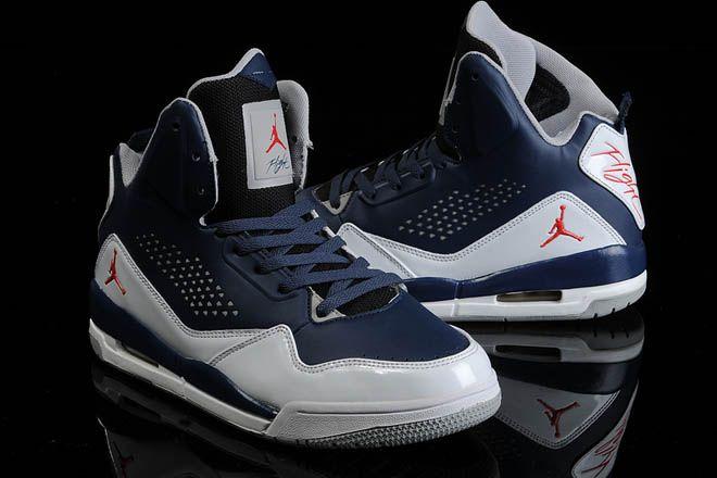 High-cut Womens Keep Moving Shoes Jordan Flight 45 Blue/White/Black 5
