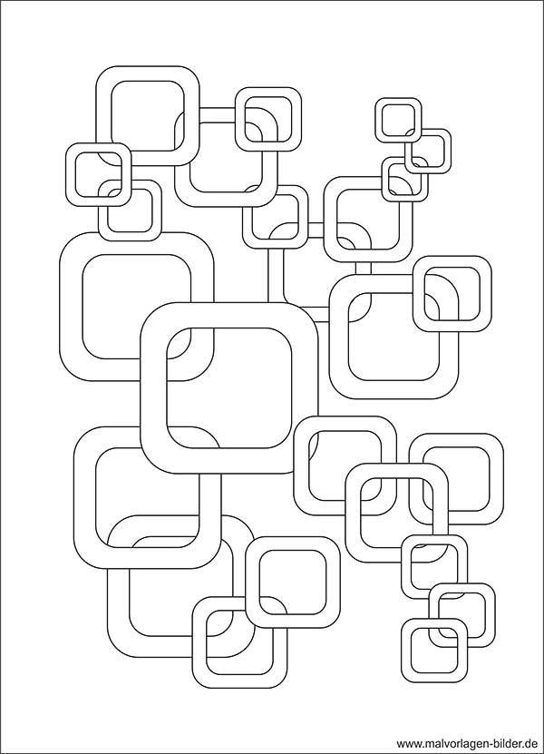 Retro-Design | Kreative Malvorlage zum Ausdrucken | Sticken und ...