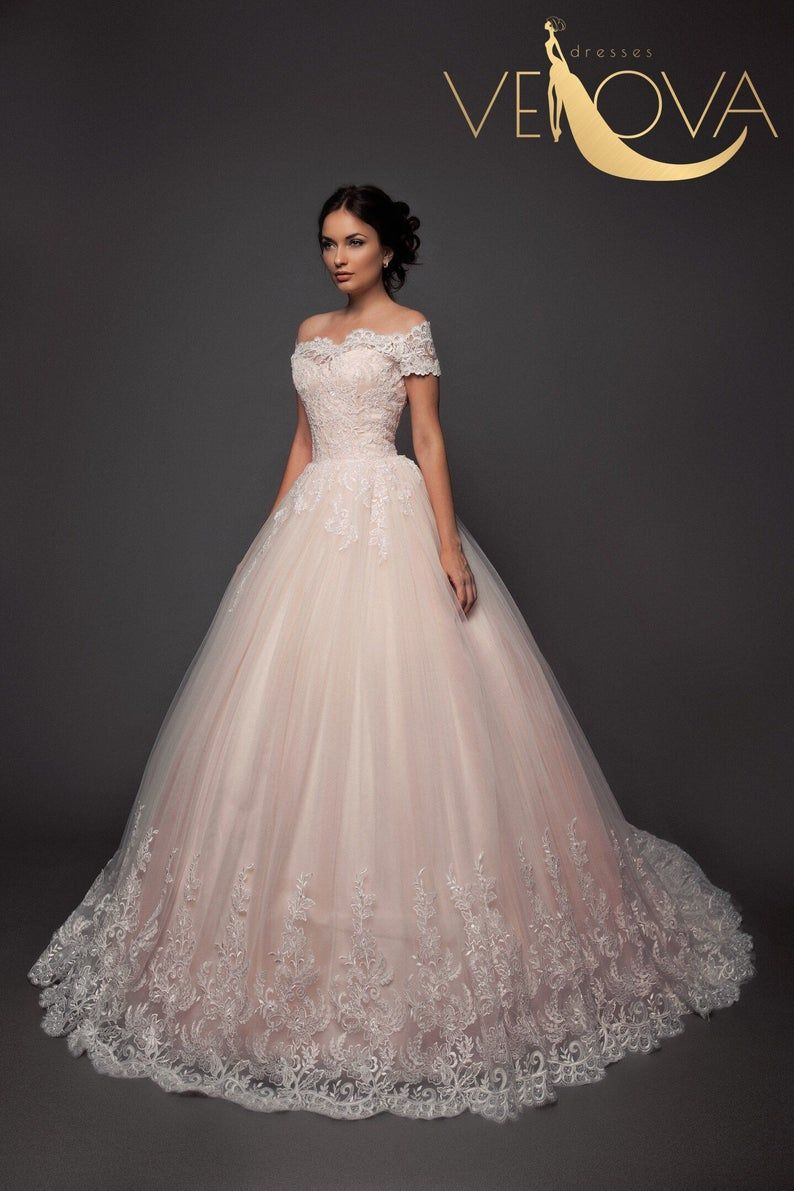 Princess Wedding Dress Blush Wedding Dress Vintage Wedding Etsy Wedding Dresses Unique Wedding Dresses Wedding Dresses Blush [ 1191 x 794 Pixel ]