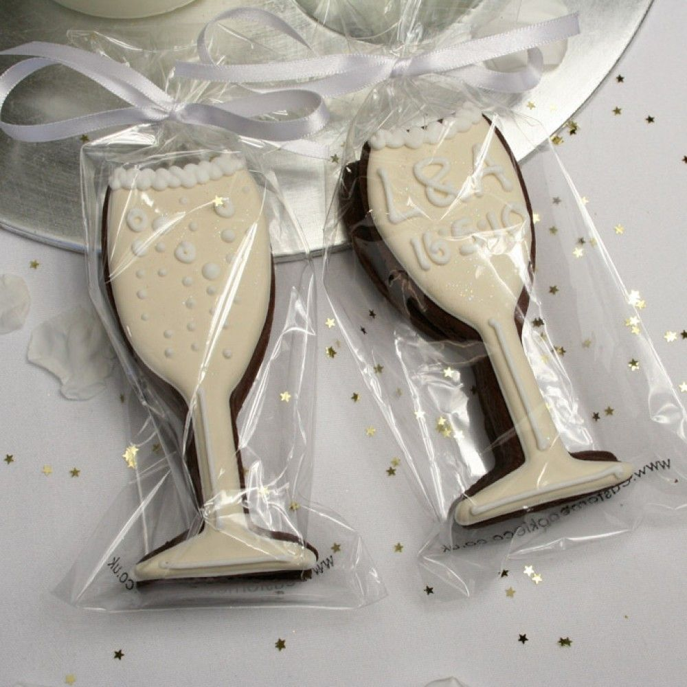 Champagne Glass Cookie Favour or Gift | Cookies | Pinterest | Cookie ...