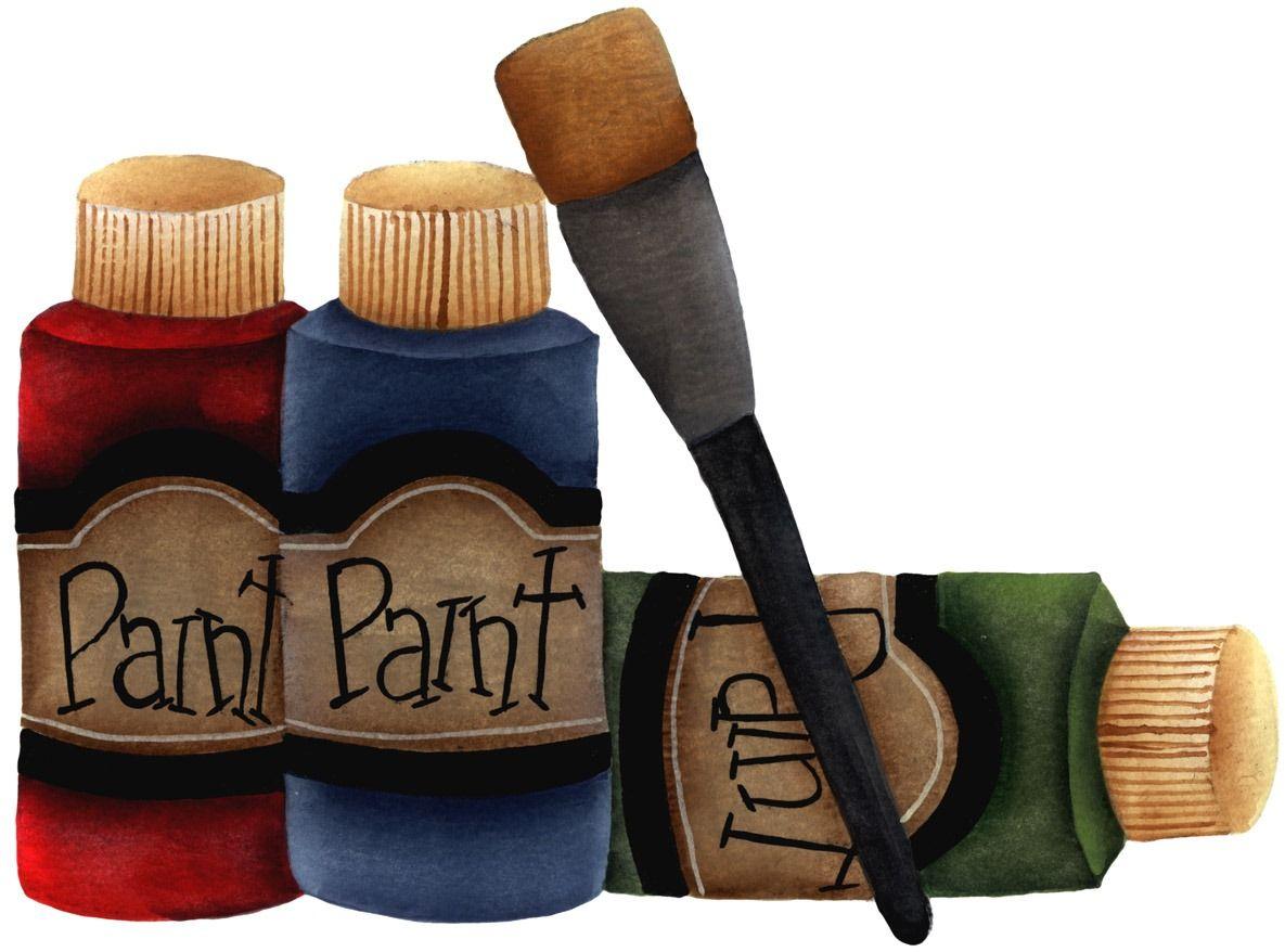 [imagem decoupage clipart Paint Bottles[4].jpg]