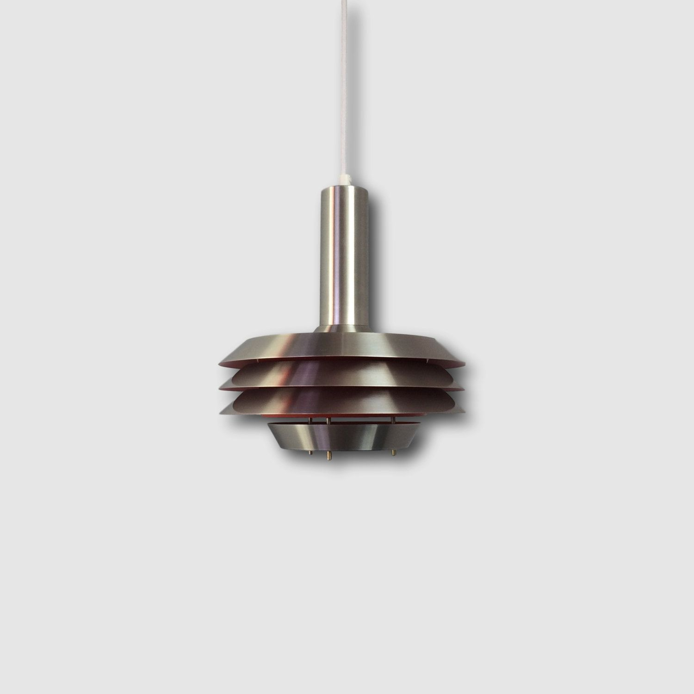 mid century pendant lighting. Lyskaer 705 - Danish Vintage Hanging Lamp From 1969 Aluminum Design Lights Orange Glow Mid Century Pendant Lighting