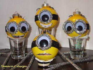 i sooooo want these cute little minion ornaments - Minion Christmas Decorations