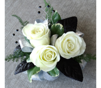 Prom flowers white rose wrist corsage for prom so pretty with a prom flowers white rose wrist corsage for prom so pretty with a black dress mightylinksfo