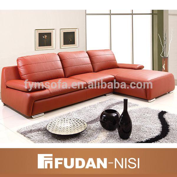 Muebles para el hogar moderno sofá de cuero esquina seccional-imagen ...