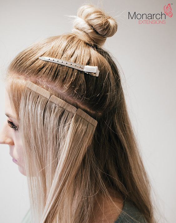 Monarch Extensions Top Knot Tape In Method Clip In Hair Extensions