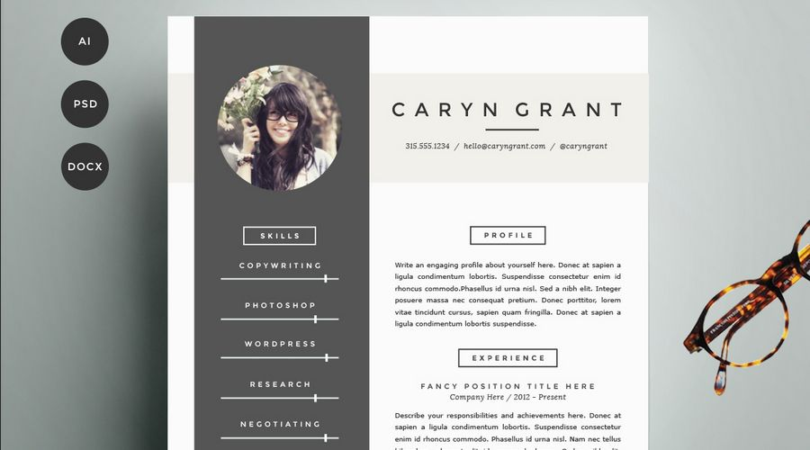 50+ Best CV & Resume Templates of 2018 | Visual communication