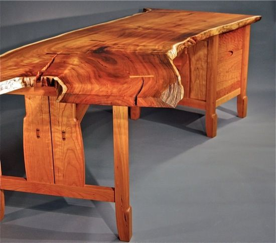desks fine woodwork furniture wood table design live edge rh pinterest com