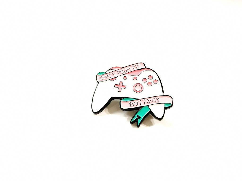 Don T Push My Bottons Enamel Pin Super Cute Gamer Girl Pin With Xbox Controller Xboxroom