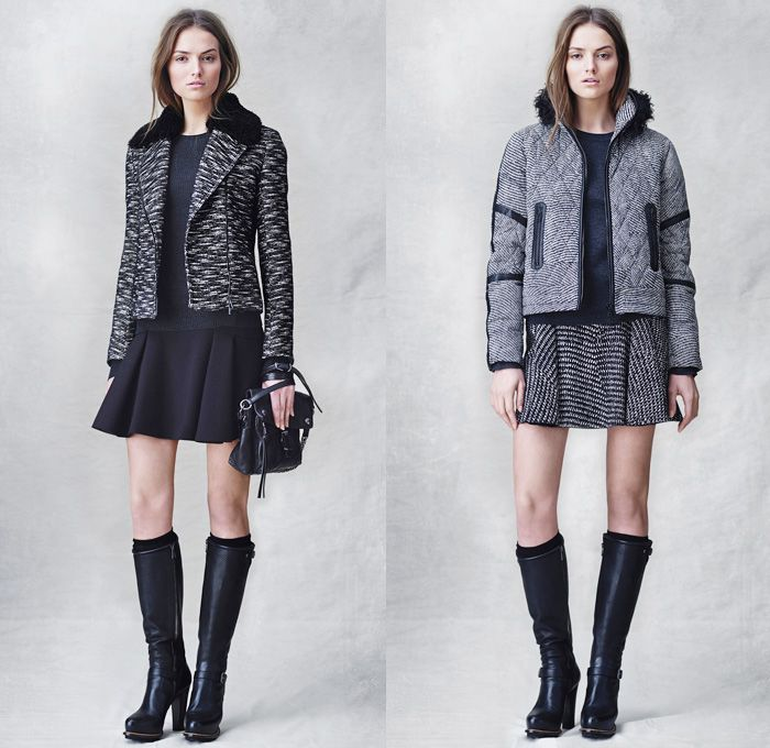 e6d082bd3ea6 Belstaff 2014 Pre Fall Womens Presentation - Pre Autumn Collection - Motorcycle  Biker Rider Ribbed Panel Jeans Multi-Panel Outerwear Coat Wi.