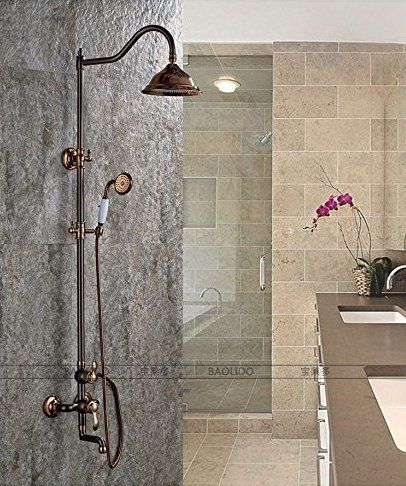 Wymbs Bathroom Luxury Rain Mixer Shower Combo Set Wall Mounted