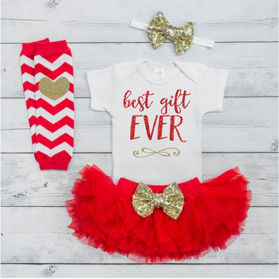 9804b5770 Best Gift Ever Outfit Baby First Christmas Outfit Baby Girl | for ...
