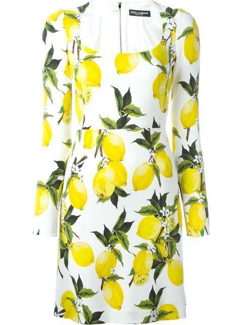 9b26763bdd7 DOLCE   GABBANA Lemon Print Dress.  dolcegabbana  cloth  dress ...