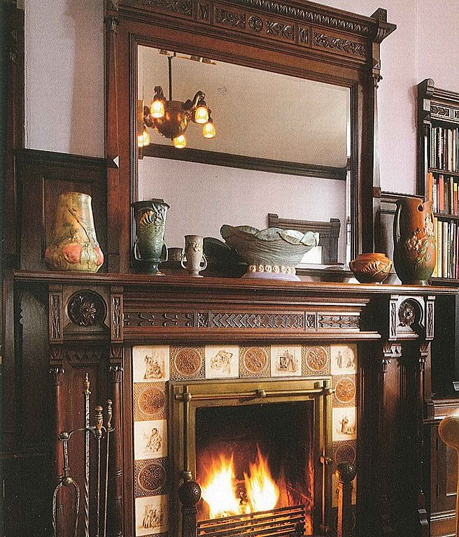 mantel from 1881 summit ave home in st paul mn abode old world rh pinterest com