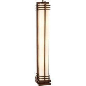 possini euro design deco style walnut column floor lamp | living