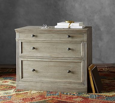 Livingston Double 2 Drawer Lateral File Cabinet Gray Wash In 2020