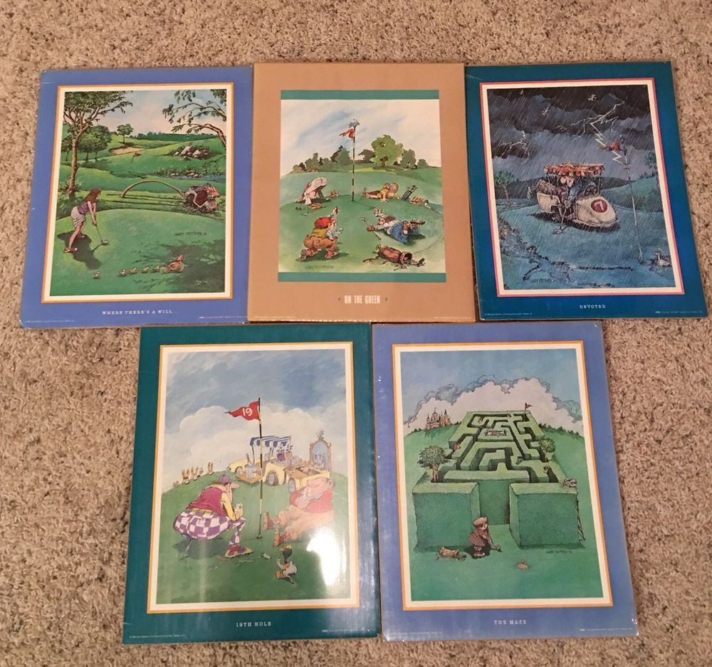 Gary Patterson Art Print SEALED Rare Golf Prints Thought