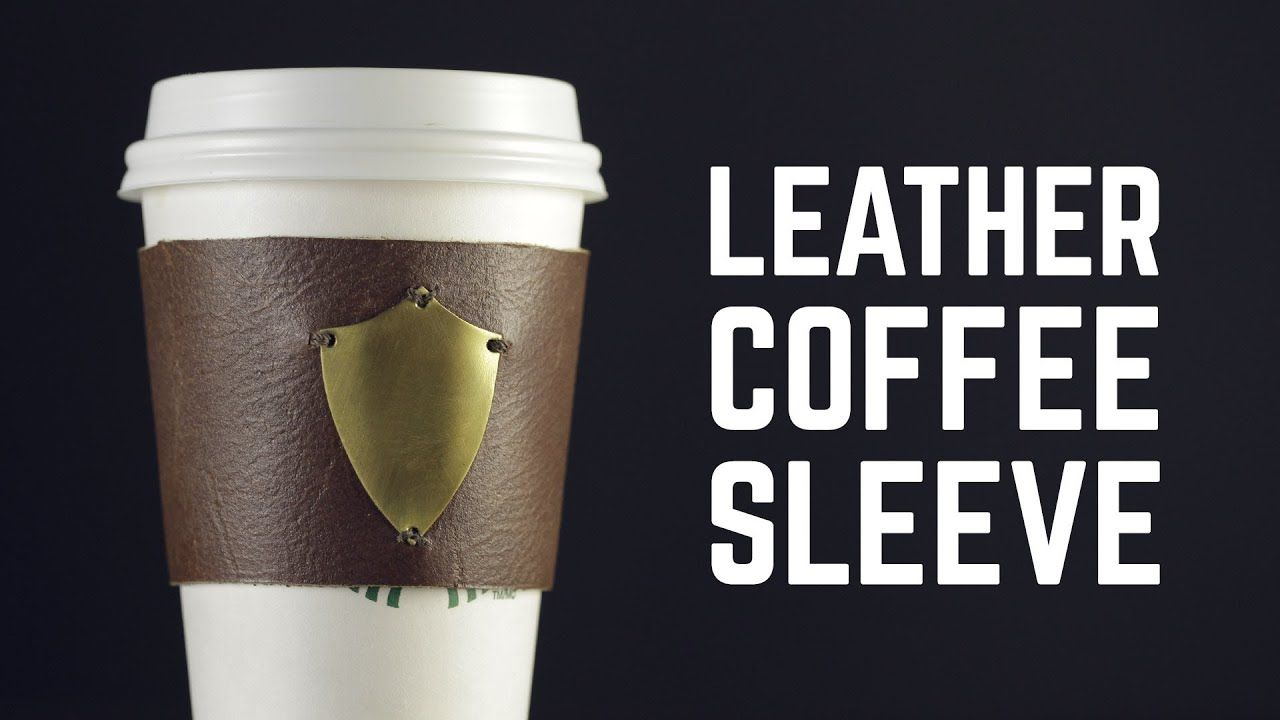 Diy projects leather coffee cup sleeve coffee sleeve