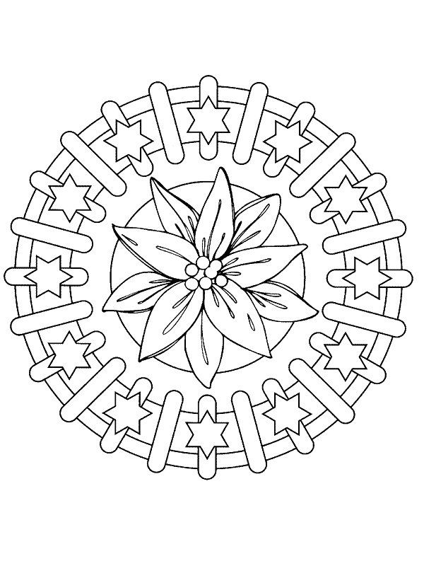 coloring page Mandala Christmas - Mandala Christmas Mandalas